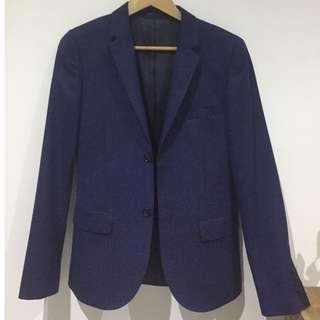 TOPSHOP slim fit navy suit jacket