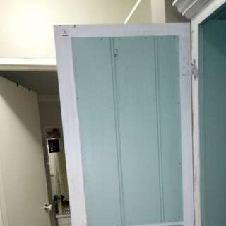 Shabby Chic Up cycled white wash wardrobe