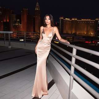 Gold Maxi Formal Dress