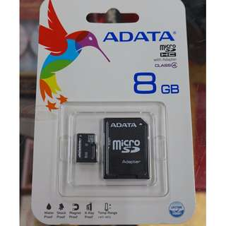 小牛蛙數位 威剛 ADATA 8G micro SD microSD SDHC C4 記憶卡 TF TF卡