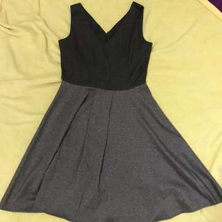 Sleeveless Gray Dress