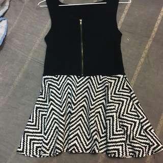 針織版連身短裙洋裝(黑)