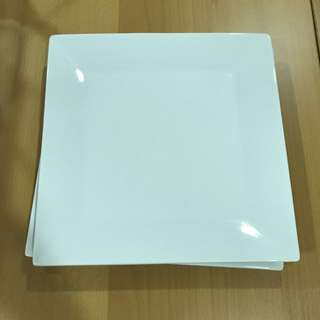 Square Plate, Set of 2