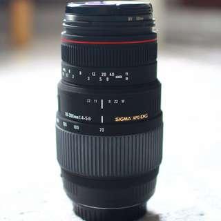 Sigma 70-300mm f/4-5.6 APO DG Macro Lens (Canon)