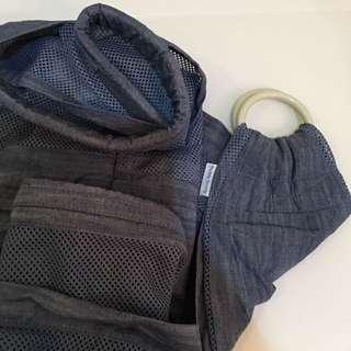 Baby denim ring sling carrier