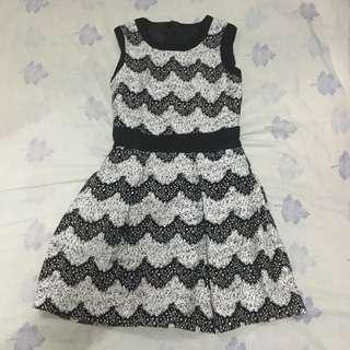 Korean Printed A-Line Dress