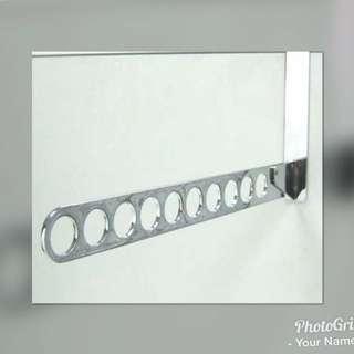金屬門後吊衣架 可收起 門厚度4公分內可使用