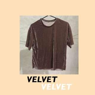 Brown Velvet Shirt