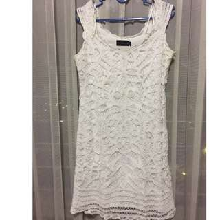 White Lace Dress by The Executive
