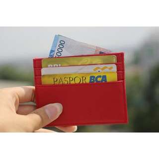 Card holder 6 slot RED