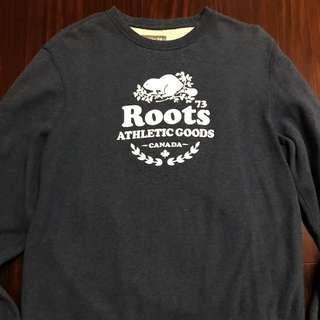Roots 深藍色大學T
