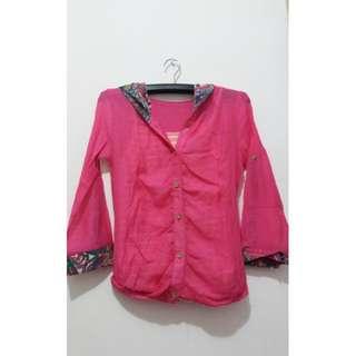 Baju Pink Transparan