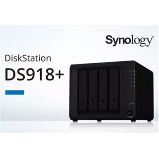 Synology DiskStation DS918+ 4-Bay Diskless Network Attached Storage