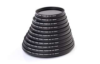 Camera Variable Adjustable Slim Fader ND2 to ND400 43-86mm Slim Fader Camera Filters 43