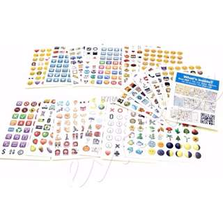 emoji whatsapp sticker FULL SET INSTOCK (19 x 48 emoji ) (912 emojis 1.5cm x 1.5cm!)