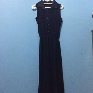 Blue navy long dress