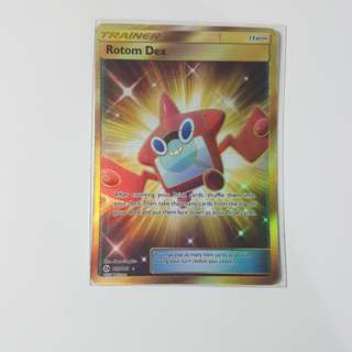 Pokemon tcg rotom dex secret rare