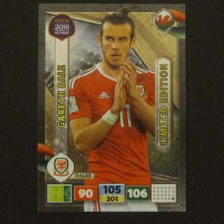 2018 Panini Adrenalyn Road to World Cup Russia Limited Edition - Gareth BALE #Wales