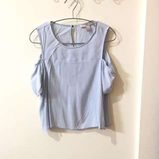 FOREVER 21 Light Blue Shirt