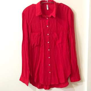 STRADIVARIUS Red Shirt