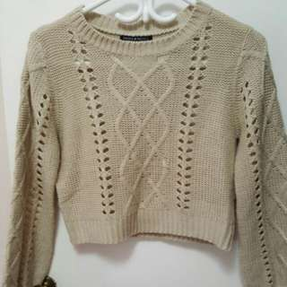 Brandy Melville cream knit sweater