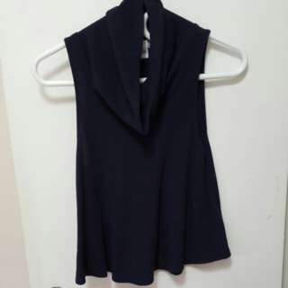 Size Small urban outfitters blue sleeveless turtle neck