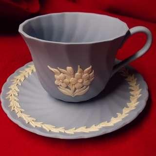 Vintage Wedgewood England Jasper Tea Cup