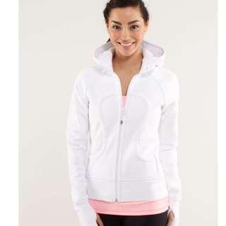 Lululemon scuba hoodie in white (size 4)