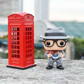 Red Telephone Booth (Superman Funko not included)