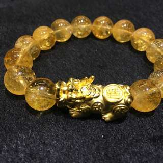 For Business to Increase Sales Money Catcher- Citrine with 24K Gold PiYao