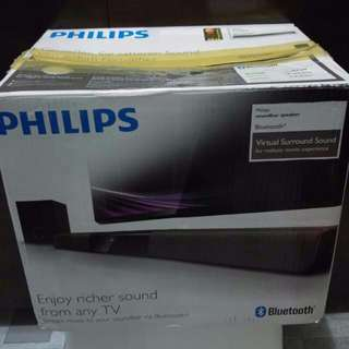 Philips Soundbar With Subwoofer and Bluetooth.