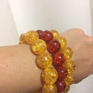 Set of 3 Amber Bracelets for Women