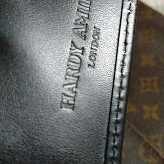 Real Leather HARDY AMIES Long Wallet