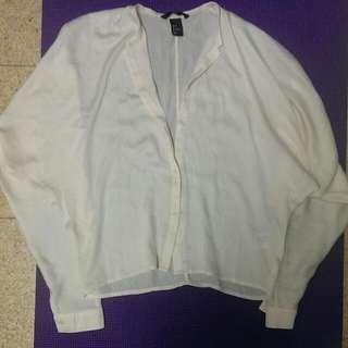 全新@絲質涼感緞面寬鬆輕柔透氣V領小女人飛鼠袖襯衫