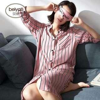 🚚 韓版開衫女士長裙可外穿家居服