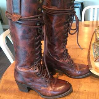 Freebird by Steve Madden knee high leather boots