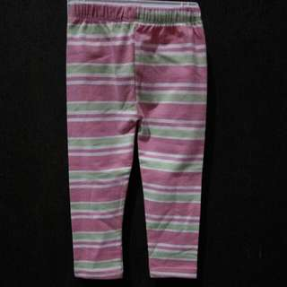 (PRELOVED) Pink Stripes Baby Legging