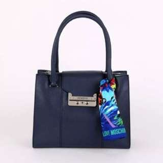 Love moschino navy bag with scarf