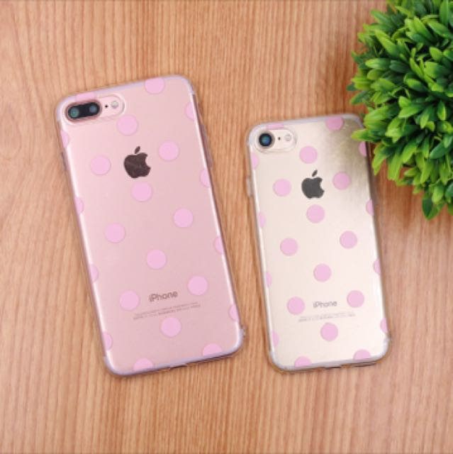 6+/6S+/7 Pink Polka Dots Phone Case
