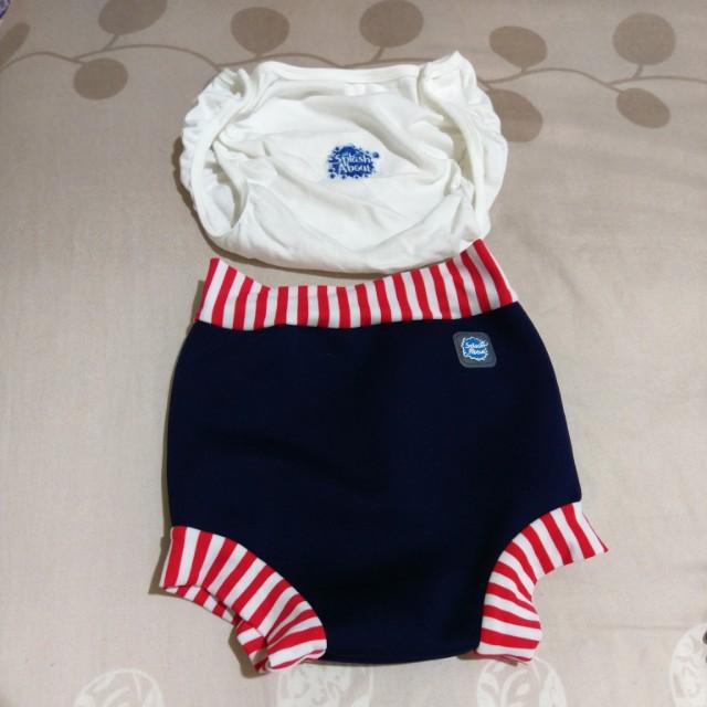 潑寶游泳褲+內襯褲