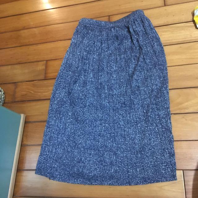 藍光銀蔥小百摺裙