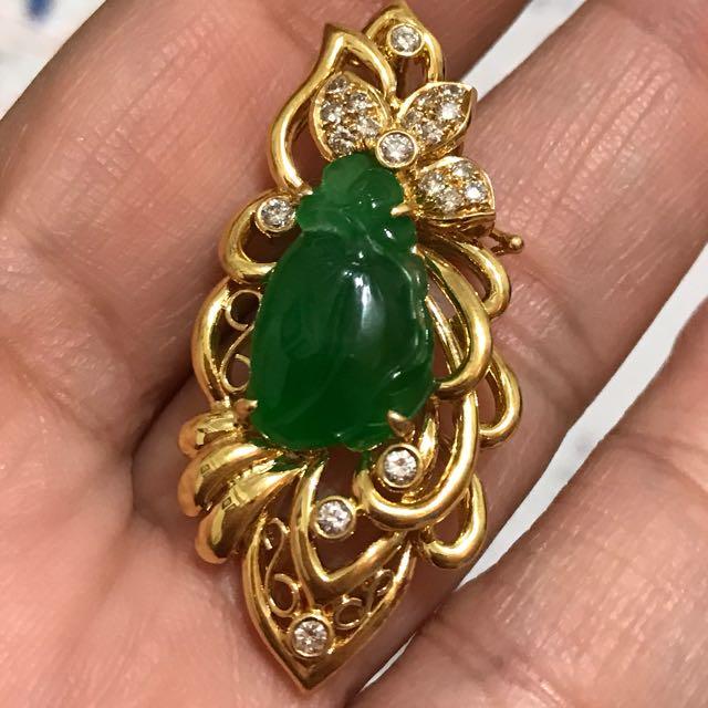 天然緬甸玻綠翡翠