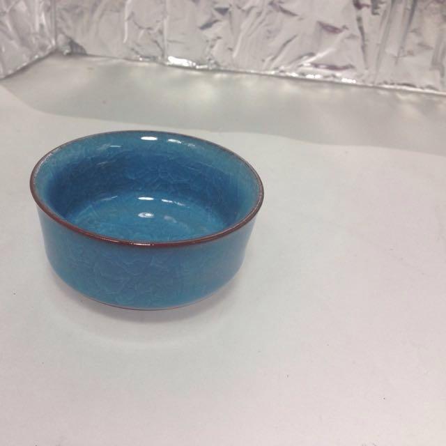 陶瓷冰裂釉茶杯 直徑7高3.5公分