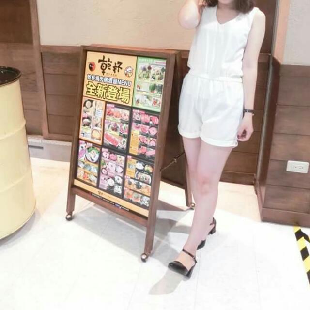 🔸雪紡純白連身褲 #有超取最好買 #好想找到對的人 #舊愛換新歡