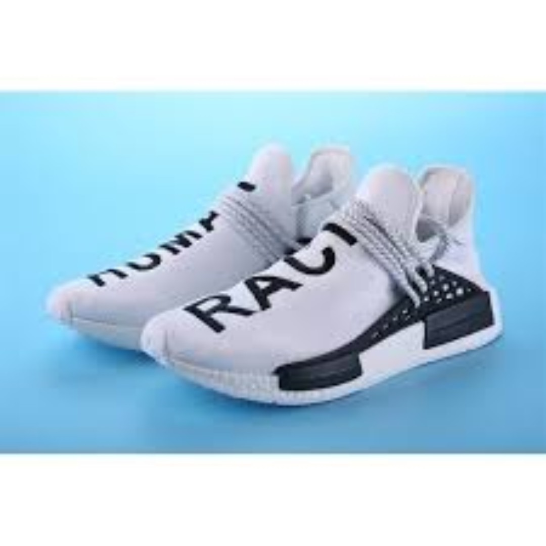 buy popular bc3bc a3fbe ADIDAS Pharrell williams Human Race running shoes white ...