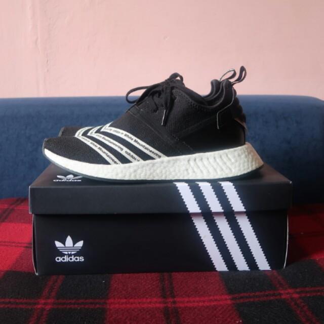 size 40 e670d 31bda Adidas Originals X White Mountaineering NMD_R2 PK - CORE BLACK & WHITE