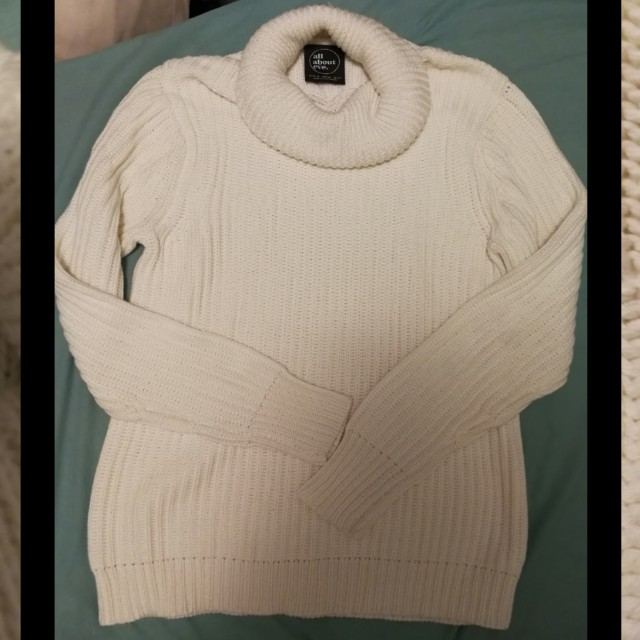 All about Eve white chunky jumper