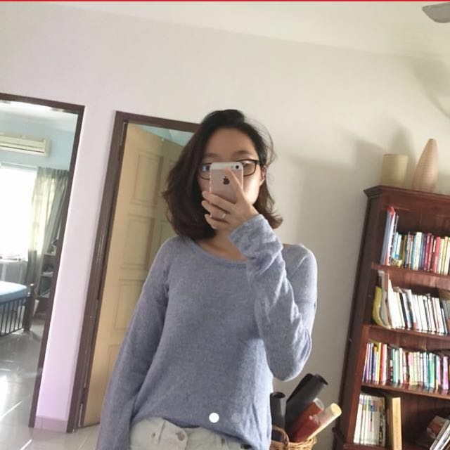 ATMOSPHERE Blue Sweater Top