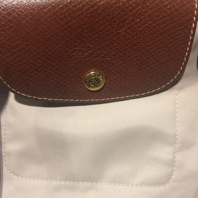 Authentic Longchamp bag in beige