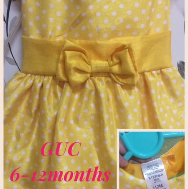 Baby Girl Dress Yellow